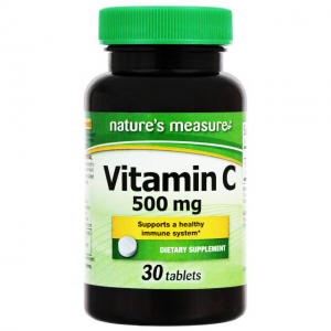 Vitamin C 500 mg Nature's Measure Supports a Healthy Immune System 30 tablets