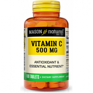 Vitamin C 500 mg Antioxidant & Essential Nutrient Mason Natural 100 tablets