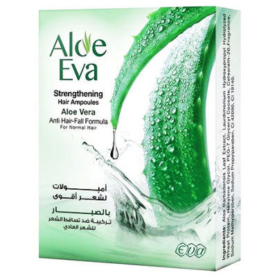 Aloe Eva Strengthening Hair Ampoules With Aloe Vera 15 ml 4 ampoules