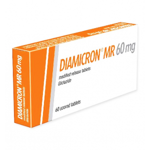 Diamicron MR 60 mg ( Gliclazide ) 30 tablets