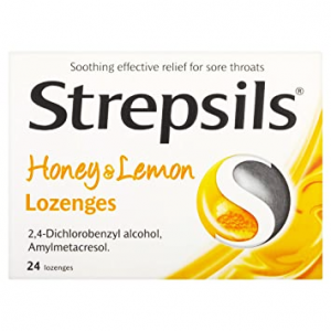 Strepsils Honey and Lemon ( Dichlorobenzyl alcohol 1.2 mg + Amylmetacresol 0.6 mg ) 24 lozenges