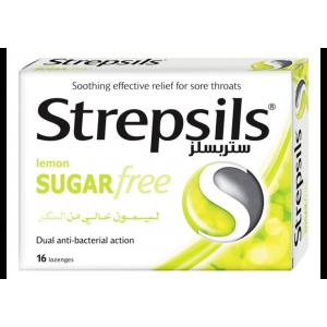 Strepsils Sugar Free Lemon ( Dichlorobenzyl alcohol 1.2 mg + Amylmetacresol 600 µg ) 16 lozenges