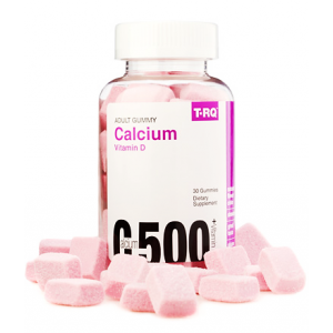 Calcium 500 Plus Vitamin D T.RQ ( Calcium 500 mg + Vitamin D 5 mcg + Phosphorus 232 mg ) 30 gummies