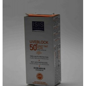 isis uveblock+50 light tint fluid40ml