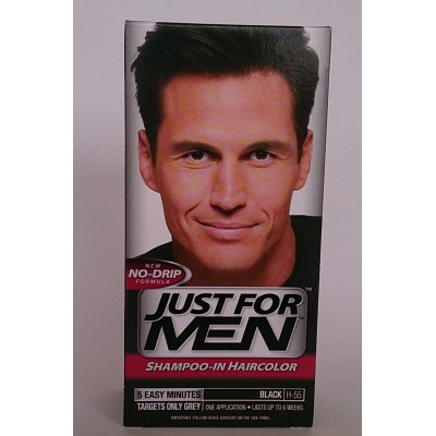 just for men shampoo-in haircolor black