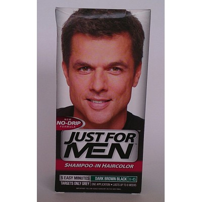 just for men shampoo-in haircolor dark brown black