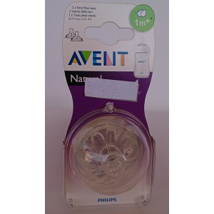 avent natural two slow flow teats1m+